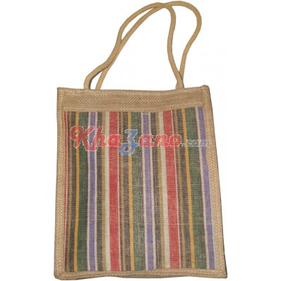 Jute Multi Color Tiffin Bag