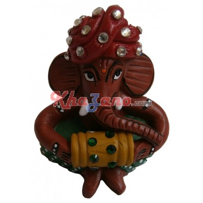 Fiber Ganesh with stone work