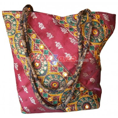 Silk Broket Handbag