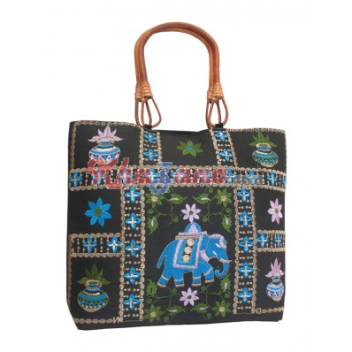 Cotton Silk Square Bag