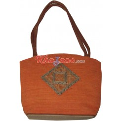Jute Bag with Patch Work