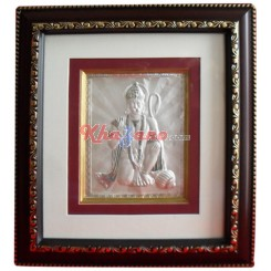 Silver Shree Hanumanji in Frame