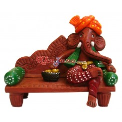 Ganeshji on Sofa with Laddu
