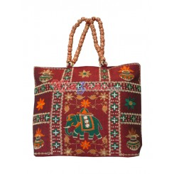 Cotton Square Manka Handle Bag