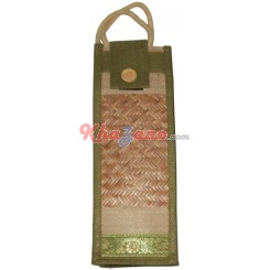 Jute Green Bottle Bag