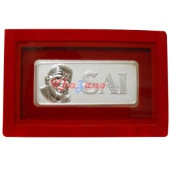Saibaba Silver Coin in Velvet Box