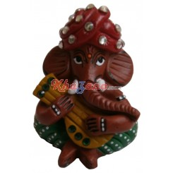 Ganesh in fiber with stone work