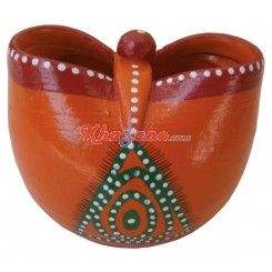 Butterfly Orange Pen Stand in Fiber