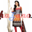 Orange & Grey Jacqaurd Salwar Kameez