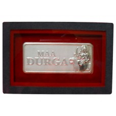 Maa Durga Silver Coin in Velvet Box